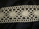 Crochet Natural Colored Lace 1 3/4 inches Wide