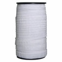 Limited time sale 100 yards wholesale white fold over elastic 5/8 roll