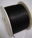 100Y Roll of Narrow Double Sided Black Satin Ribbon 1/8 W