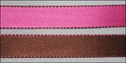 100 Yards Wholesale Dark Pink and Brown Double Sided w/ Stitch Satin Ribbon  5/8W