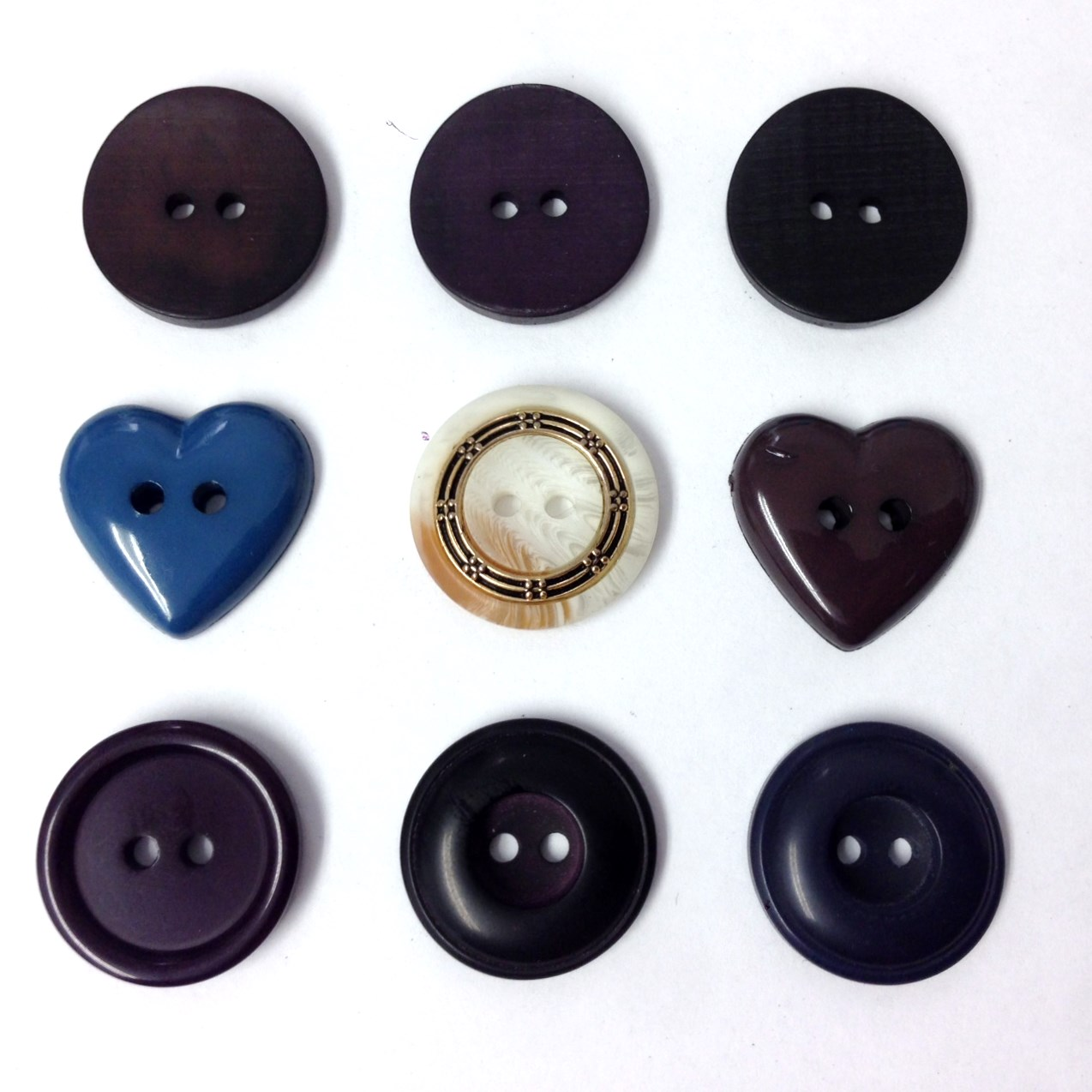 12 Button 2 Hole 20mm