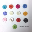 12 Buttons Acrylic Blue Red Orange White Purple Green 4 Hole 12mm