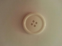 12 pieces or 1 dozen white 4 hole acrylic button great for coat or jacket 38 mm