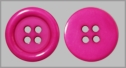12  Hot  Pink 4 Hole Button 18 mm