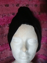 1pc black stretch velvet hat 10 1/2 inch