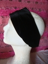 1pc black stretch velvet headband 10 1/2 inch