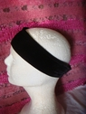 1pc black stretch velvet headband 10 1/4 inch