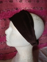 1pc brown stretch velvet headband 10 1/2 inch