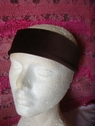1pc brown stretch velvet headband 10 1/4 inch