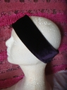 1pc eggplant stretch velvet headband 10 1/4 inch