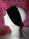 1pc maroon stretch velvet headband 10 1/2 inch
