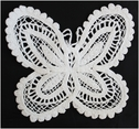 1pc Off White Butterfly Shaped Applique 4 W (C8)