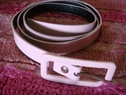 1pc pink faux leather belt 39 1/2 inches long