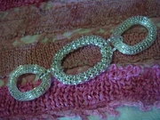 1pc silver-tone metal hoop sew-on embellishment 5 1/2 inch wide