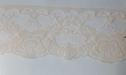 Pale  Pink Rose Double Scalloped Lace trim 3 W L 7-1
