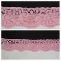 Baby Pink Soft Stretch Lace Trim 1 1/4 W S-8-4