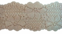 Beige Floral Scalloped Stretch Lace 2 3/8 W S-3-7