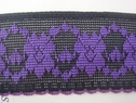 Black Purple Stretch Lace Trim 2 1/4 W S-4-9