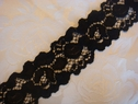 Black Stretch Lace Trim 1 1/2 W S-2-2