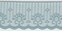 Blue Scalloped Delicate Lace Trim 1 7/8 W L9-1