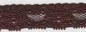 Brown Stretch Lace trim 3/4 inch