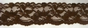 Brown Scalloped Stretch Lace Trim 2 1/4 W S 3-8