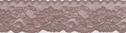 Dark Beige Double Scalloped Stretch Lace Trim 1 7/8 W S4-1