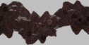 Dark brown flower design with flat sequins stretch lace trim 1 3/4 W