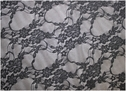 Dark Gray Floral Fabric 60in