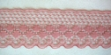 Dusty Rose Delicate Lace Trim 1 1/4 W L 9-2