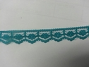 Aqua green Scalloped Lace narrow  Trim 1/2 W L 1-3