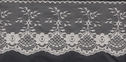 Ivory Scalloped Floral Lace Non Stretch Trim 4 W L7-6