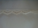 1Y Ivory Narrow  Scalloped edge Lace Trim 1/2 W L1-7