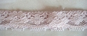 1Y Light Gray Floral Scalloped 3D Embossed Lace Trim 1 1/8 W L4-1