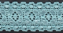 Light Turquoise Butterfly Embossed Stretch Lace Trim 1 1/4 W  1  box-4
