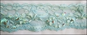 Turquoise Stretch Lace w/ Sequins and Bugles 2 1/4 W L 10-4