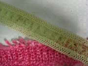 1Y Lime Braided Gimp Organza Ribbon Trim 1 1/2 W