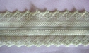 Lime Double Scalloped Floral Lace Trim 1 3/4 W L6-6
