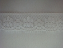Narrow White Floral Scalloped Lace Trim 5/8 W L6-6