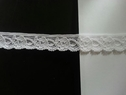 Pure Black White Floral Scalloped Stretch narrow  Lace Trim. 5/8 w s 2-6