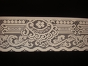 Off-White Polyester  wiide upholstery Lace Trim 6 1/2 W