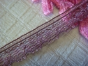 Pale Burgundy Scalloped Narrow Lace Trim 1/4 W L1-5
