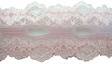 Pink Double Scalloped Insert Lace Trim 1 W