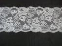 Pure White Double Scalloped Floral Lace Trim.5  L-8-Box
