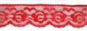 1Y Red Floral double Scalloped rose Lace Trim 1 1/8 W L2-8