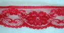1Y Red Scallop Floral Lace Trim 1 3/4 W L2-9