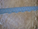 wholesale 100 Y Sky Blue Stretch Scalloped Lace Trim 3/8 W