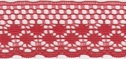 Tomato Red Delicate Scalloped Lace Trim 1 1/4 W L  9-2