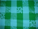 1y turquoise green fleece plaid fabric 52 inch wide