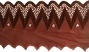1Y Unique Brown Mesh Embroidered Scalloped Trim 4 1/4 W